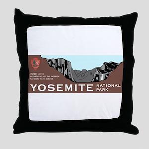 Yosemite National Park, California Throw Pillow