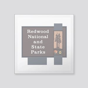"Redwood National and State Square Sticker 3"" x 3"""
