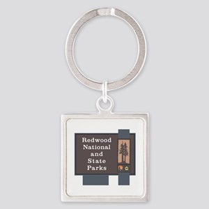 Redwood National and State Parks, Square Keychain