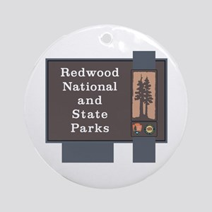 Redwood National and State Parks, C Round Ornament