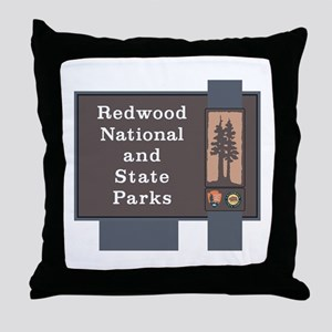 Redwood National and State Parks, Cal Throw Pillow