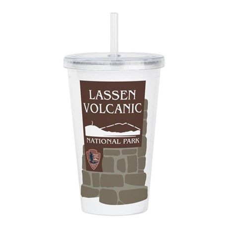 lassen volcanic nation acrylic double wall tumbler by worldofsigns. Black Bedroom Furniture Sets. Home Design Ideas