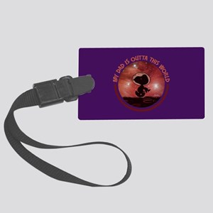 Dad Outta This World Large Luggage Tag