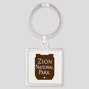 Zion National Park, Utah Square Keychain