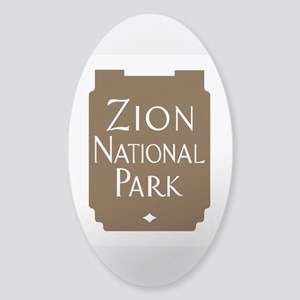 Zion National Park, Utah Sticker (Oval)
