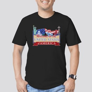 Welcome to the United Men's Fitted T-Shirt (dark)