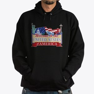 Welcome to the United States of Amer Hoodie (dark)
