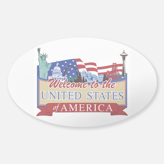 Welcome to the United States of Ame Sticker (Oval)