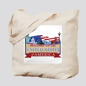 Welcome to the United States of America Tote Bag