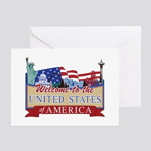 Welcome to the United St Greeting Cards (Pk of 10)