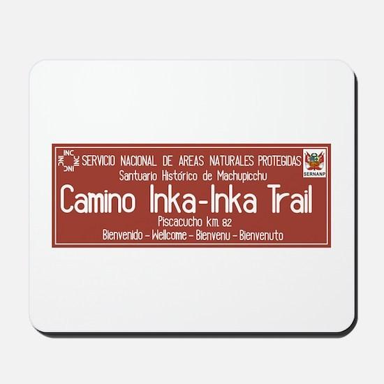Inka Trail, Machupicchu, Peru Mousepad