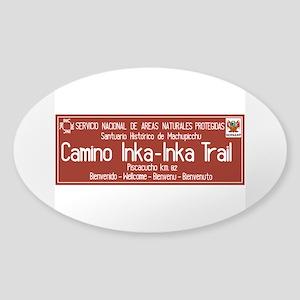 Inka Trail, Machupicchu, Peru Sticker (Oval)