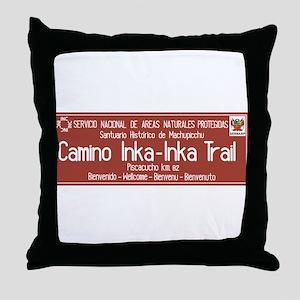 Inka Trail, Machupicchu, Peru Throw Pillow