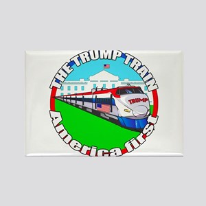 Trump Train America First Rectangle Magnet
