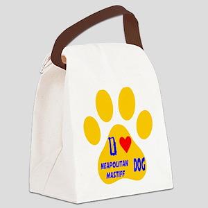 I Love Neapolitan Mastiff Dog Canvas Lunch Bag