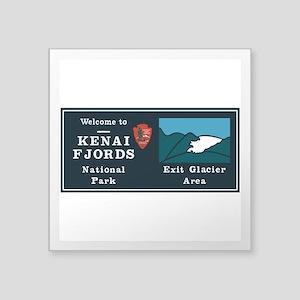 """Kenai Fjords National Park, Square Sticker 3"""" x 3"""""""