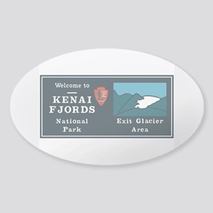 Kenai Fjords National Park, Alaska Sticker (Oval)