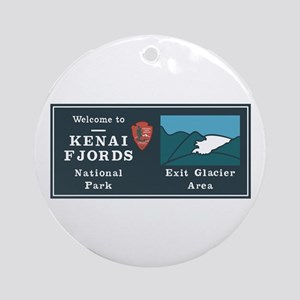 Kenai Fjords National Park, Alaska Round Ornament