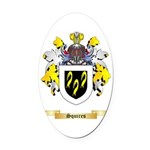 Squires Oval Car Magnet