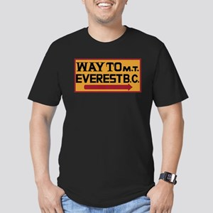 Way to Mt. Everest B. Men's Fitted T-Shirt (dark)