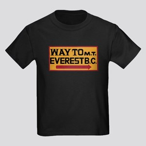 Way to Mt. Everest B. C., Nepal Kids Dark T-Shirt