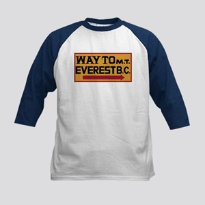 Way to Mt. Everest B. C., Nep Kids Baseball Jersey