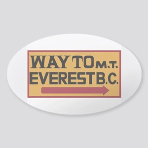 Way to Mt. Everest B. C., Nepal Sticker (Oval)