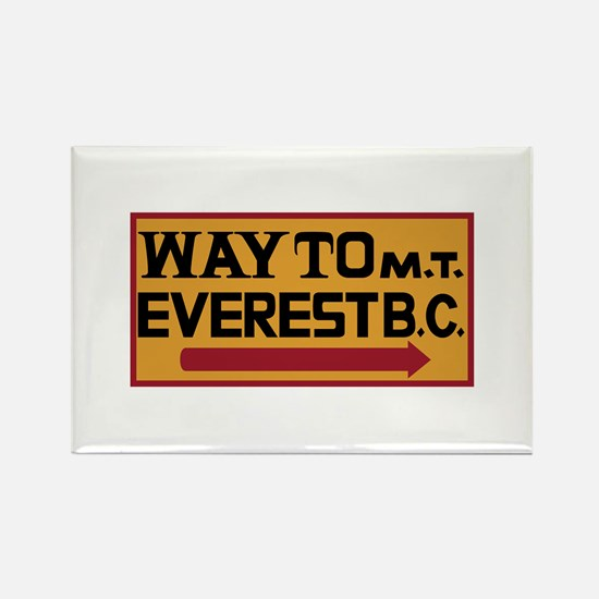 Way to Mt. Everest B. Rectangle Magnet (100 pack)
