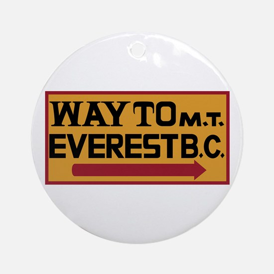 Way to Mt. Everest B. C., Nepal Round Ornament