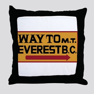 Way to Mt. Everest B. C., Nepal Throw Pillow