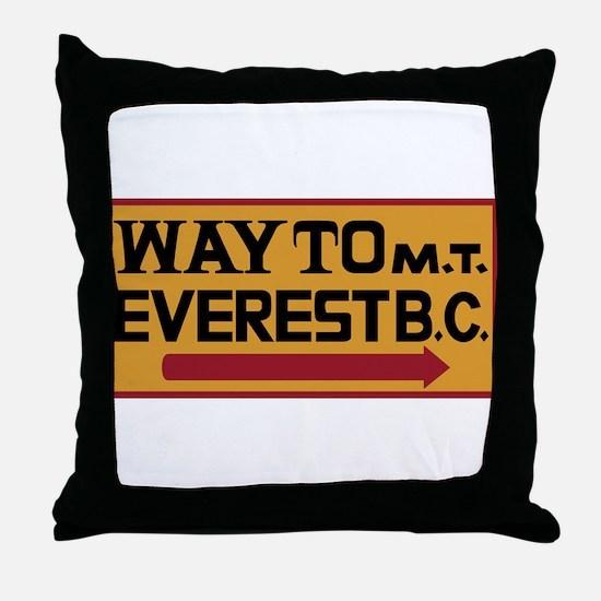 Way to Mt. Everest B. C., Nepal Throw Pillow
