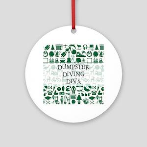 DUMPSTER... Round Ornament