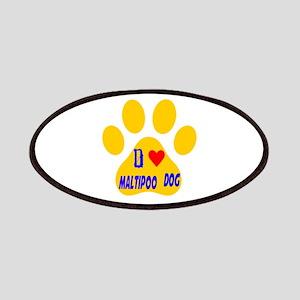I Love Maltipoo Dog Patch
