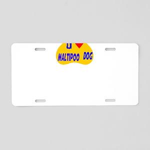 I Love Maltipoo Dog Aluminum License Plate