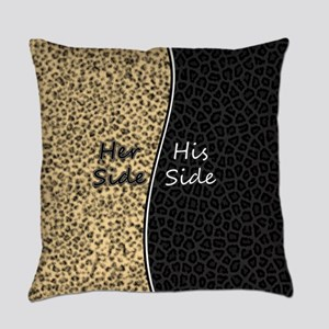 Leopard Print His Hers Wild Cat Everyday Pillow