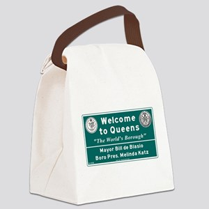 Welcome to Queens, NYC Canvas Lunch Bag