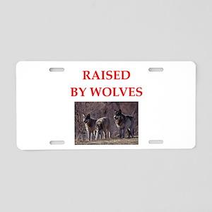 wolves Aluminum License Plate