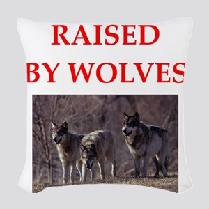 wolves Woven Throw Pillow