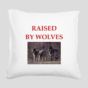 wolves Square Canvas Pillow
