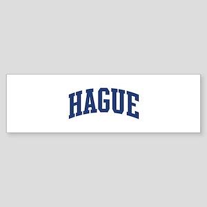 HAGUE design (blue) Bumper Sticker