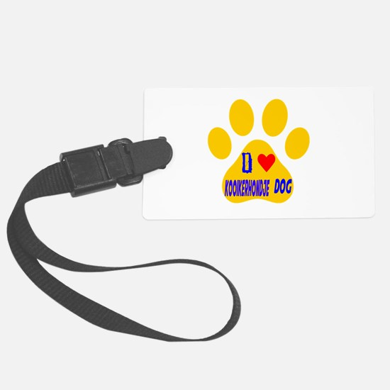 I Love Kooikerhondje Dog Luggage Tag