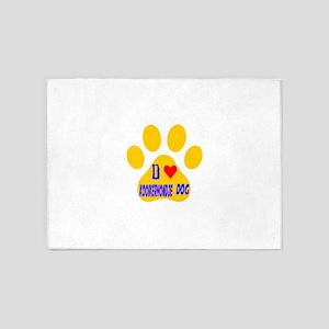 I Love Kooikerhondje Dog 5'x7'Area Rug