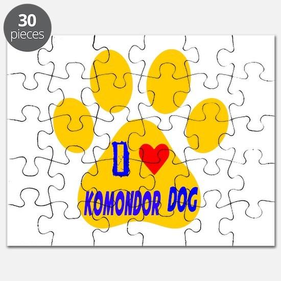 I Love Komondor Dog Puzzle