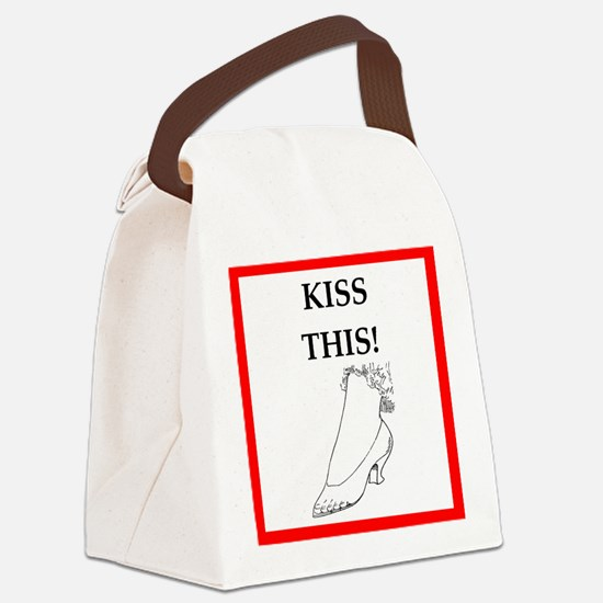 kiss this Canvas Lunch Bag