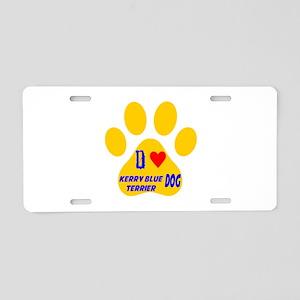 I Love Kerry Blue Terrier D Aluminum License Plate