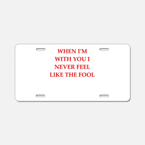 feeling Aluminum License Plate