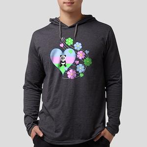 Fun Panda Heart Long Sleeve T-Shirt