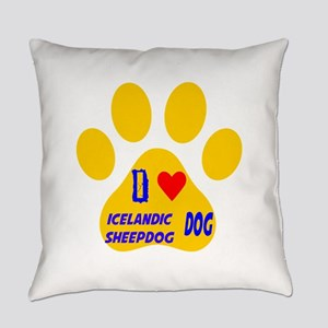 I Love Icelandic Sheepdog Dog Everyday Pillow