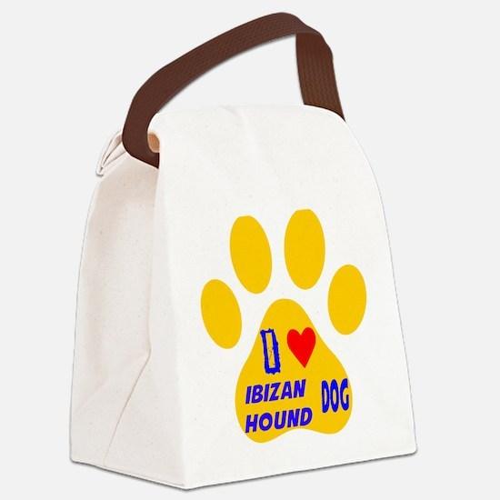 I Love Ibizan Hound Dog Canvas Lunch Bag