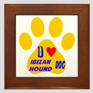 I Love Ibizan Hound Dog Framed Tile